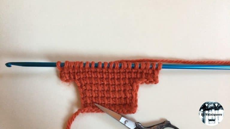 Aumentos en crochet tunecino