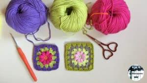 Granny Square - Flor de bodoques