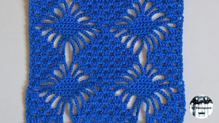 Punto fantasía crochet #10 – Punto araña 2 – Crochet