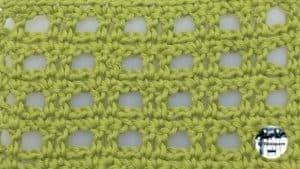 Punto fantasía crochet #16